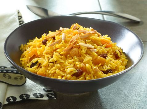 golden-pilaf-with-apricots-raisins-and-almonds